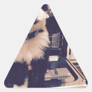 Pegatina Triangular Amor del perro pastor