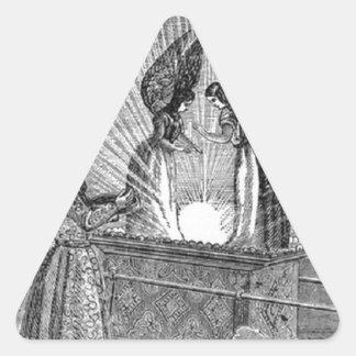 Pegatina Triangular Ángeles sobre la Arca de la Alianza