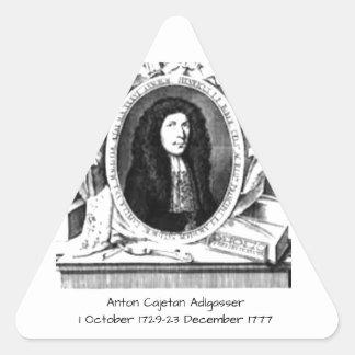 Pegatina Triangular Antón Cajetan Adlgasser