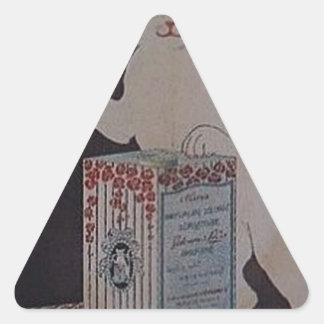 Pegatina Triangular Anuncio francés del vintage - gatos
