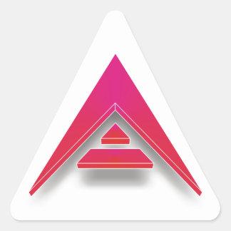 Pegatina Triangular ARCA en 3D