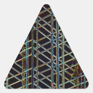 Pegatina Triangular Arquitectura abstracta