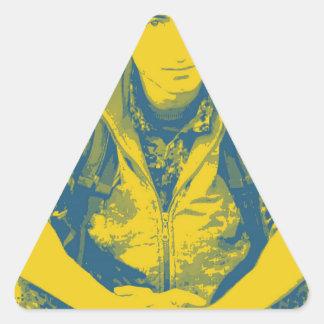 Pegatina Triangular Arte 4 del soldado 3 de YPG