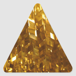 Pegatina Triangular Arte abstracto del techo del oro