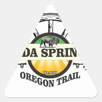 Pegatina Triangular arte del rastro de Soda Springs Oregon