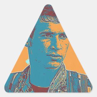 Pegatina Triangular Arte kurdo del combatiente de YPG