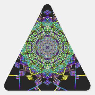Pegatina Triangular Arte reciclado del humo (6)
