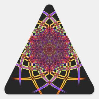 Pegatina Triangular Arte reciclado del humo (7)