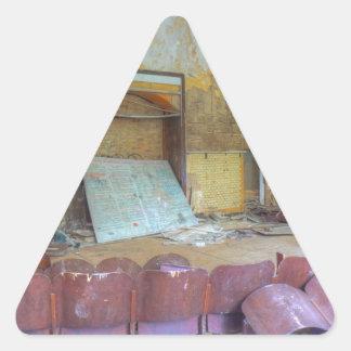 Pegatina Triangular Auditorio 01,0, lugares perdidos, Beelitz