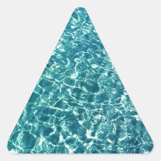 Pegatina Triangular Azul claro del agua
