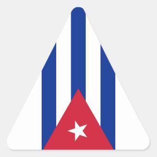 Pegatina Triangular ¡Bajo costo! Bandera de Cuba