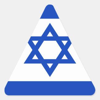 Pegatina Triangular ¡Bajo costo! Bandera de Israel