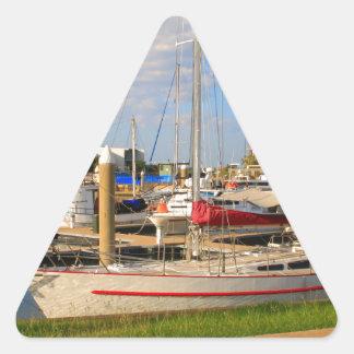 Pegatina Triangular Barcos en el puerto deportivo, Darwin, Australia