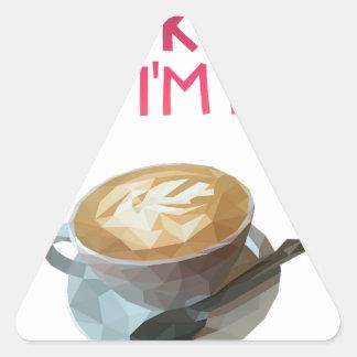 Pegatina Triangular Beca bebida anónima del AA del café