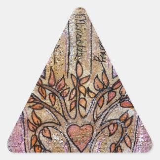 Pegatina Triangular Bendiciones