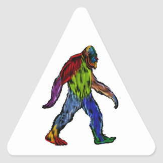 Pegatina Triangular Bigfoot en grande