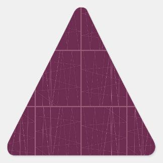 Pegatina Triangular Bloques del chocolate del ethno del diseño