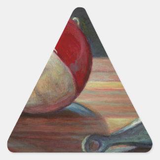 Pegatina Triangular Bobber y plomo