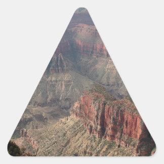 Pegatina Triangular Borde del norte del Gran Cañón, Arizona, los