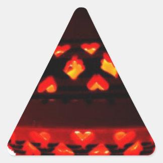 Pegatina Triangular bougeoirs-tajine