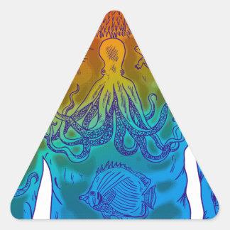 Pegatina Triangular Buceador