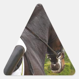 Pegatina Triangular Caballo al Levantamiento