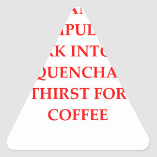 PEGATINA TRIANGULAR CAFÉ