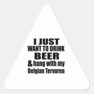 Pegatina Triangular Caída con mi Tervuren belga