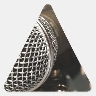 Pegatina Triangular Canto del cable de micrófono del cable del