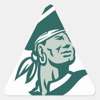Pegatina Triangular Capitán Bucanero Icon