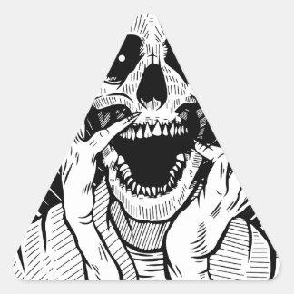 Pegatina Triangular cara del diablo