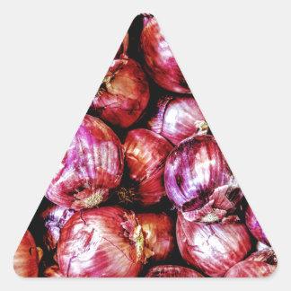 Pegatina Triangular Cebolla roja