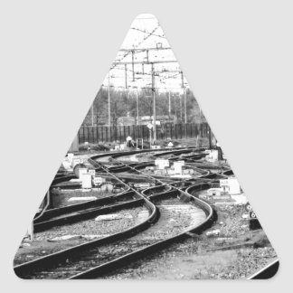 Pegatina Triangular Cerca manera con barandilla
