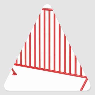 Pegatina Triangular Cerca móvil roja