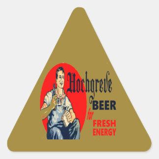 Pegatina Triangular Cerveza de Hochgreve