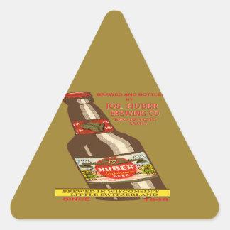 Pegatina Triangular Cerveza de Huber