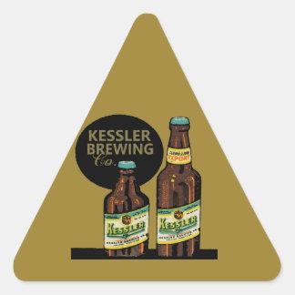 Pegatina Triangular Cerveza de la exportación de Kessler