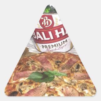 Pegatina Triangular Cerveza y pizza de Bali
