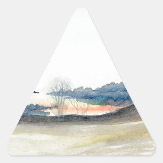 Pegatina Triangular Cielo tempestuoso