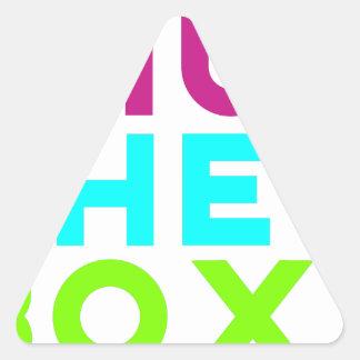 Pegatina Triangular Cierre el logotipo de la caja