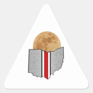 Pegatina Triangular Claro de luna de Ohio