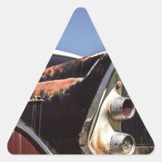 Pegatina Triangular Coche de carreras