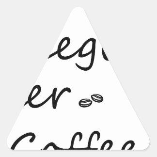 Pegatina Triangular coffee18