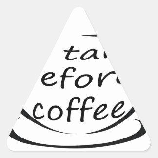 Pegatina Triangular coffee22