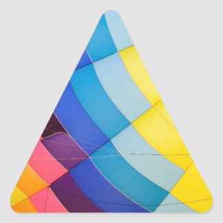 Pegatina Triangular Colorido abstracto