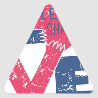 Pegatina Triangular compartamos el amor