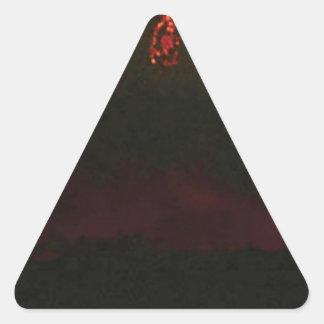 Pegatina Triangular cono volcánico llano