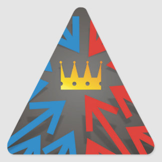 Pegatina Triangular Corona de oro