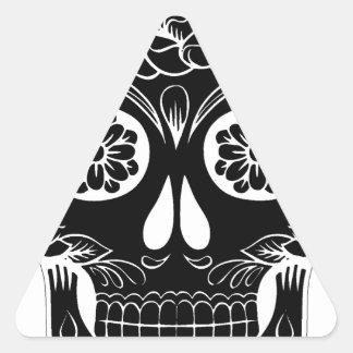 Pegatina Triangular Cráneo abstracto