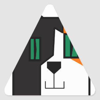 Pegatina Triangular CuboCat - Razi